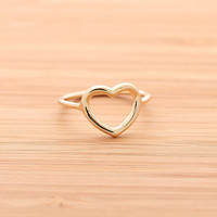 OPEN HEART ring, in sterling(G)
