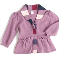 girl peplum cardigan