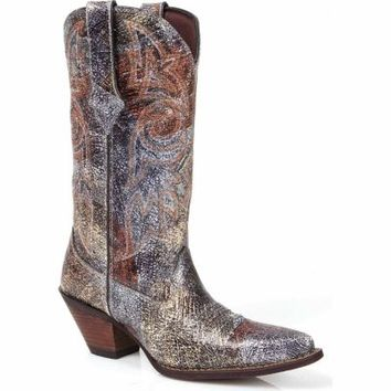 Durango Women's 12 in. Crackle Crush Boot, Metallic Picasso