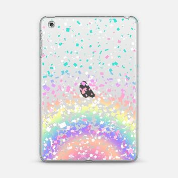 Pastel Rainbow Confetti Explosion Transparent iPad Mini 1/2/3 case by Organic Saturation | Casetify