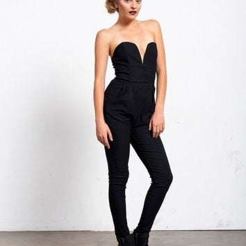 PLUNGING HEART JUMPSUIT