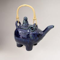 Novica Buddha and the Sapphire Elephant Ceramic Teapot | World Market