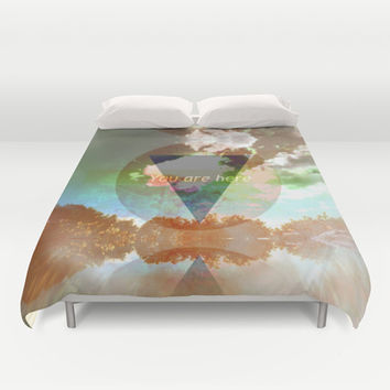 You Are Here Duvet Cover by Ben Geiger