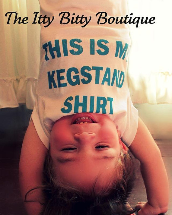 FuNNy Onesuit This Is My Kegstand Shirt Your by myittybittyboutique