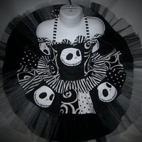 Halloween Pre Order......Nightmare Before Christmas Couture Tulle Skirt Corset Set Custom size 12/18m - 8