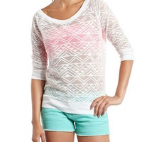 Open Stitch Tribal Sweatshirt: Charlotte Russe