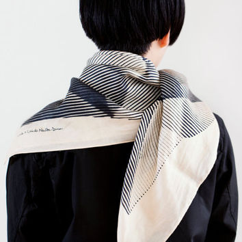 "Folded Paper Furoshiki Black.  ""Furoshiki"" Japanese multi wrapping cloth and scarf."