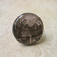 Haunted House Clay Ring