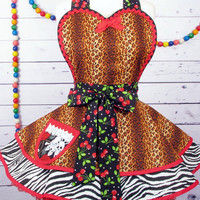 Wild Cherry Sexy Babe Apron by Dots Diner  -- in stock