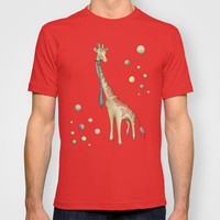 Giraffe (Circus series) T-shirt by Carina Povarchik | Society6