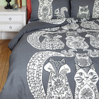 ModCloth Critters Tails Before Bedtime Duvet Cover in Full, Queen