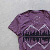 Crater Lake - Women's T-Shirt - American Apparel Heather Plum