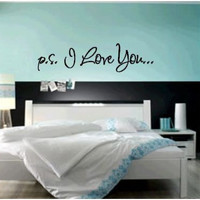 P.s. I Love You Vinyl Decal on Luulla