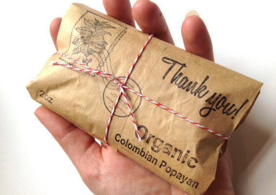 Unique Airmail Wedding Favors Coffee From AproposRoasters On