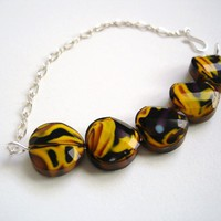 Yellow & Plum Bracelet on Luulla