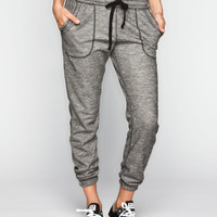 FULL TILT Marled French Terry Womens Jogger Pants | Girl In Motion