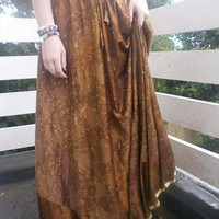 Vintage Voluminous Starry Gypsy Skirt from Red Rebel Vintage