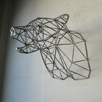 Bear Head Sculpture by wyattellison on Etsy