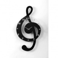 Ashton Sutton Musical Cleff Wall Clock - ST3106