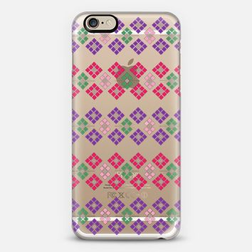 Geometric Flowers transparent iPhone 6 case by Sandra Arduini | Casetify