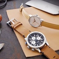 The 48-20 Chrono Leather | Men's Watches | Nixon Watches and Premium Accessories