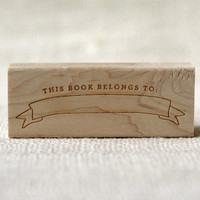 Rubber Stamp - Bookplate