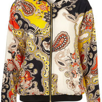 Paisley Bomber Jacket - Jackets  - Apparel