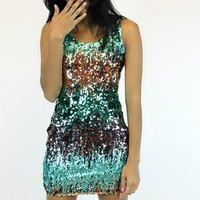 Emerald City Sequin Dress | The Clothing Co.