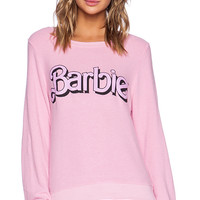 Wildfox Couture Barbie Baggy Beach Jumper in Pink