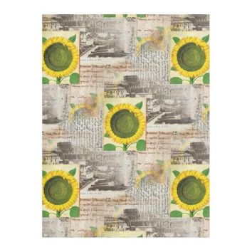Sunflower Ancient Rome Italian Fleece Blanket