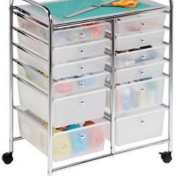 Honey can do 12 drawer rolling craft cart from for Rolling craft cart with drawers