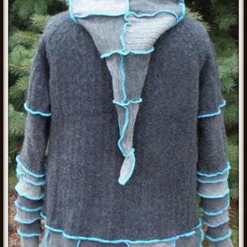 Hoodie Made From Recycled Wool Sweaters