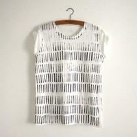 Things like Diamonds Stripes Shirt (white-grey) | selekkt.com