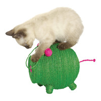 BOBBY Green Miss Pig Cat Scratching Toy | zulily