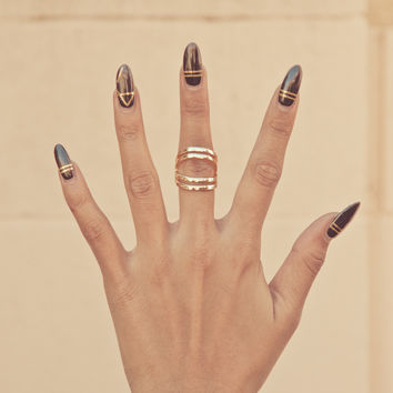 Double Plated Midi Ring – Gold Soul