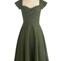 Stop Staring! Pine All Mine Dress | Mod Retro Vintage Dresses | ModCloth.com