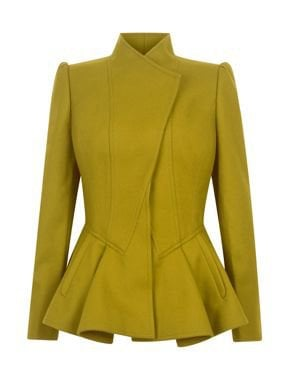 Wrenn wool peplum jacket