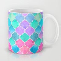 Bright Moroccan Morning - pretty pastel color pattern Mug by Micklyn