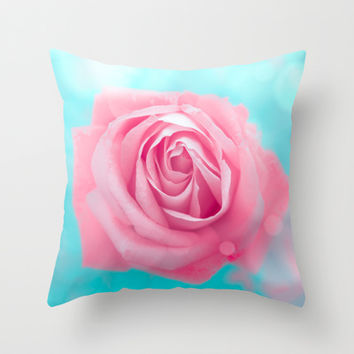 Rose  Throw Pillow by  Loredana