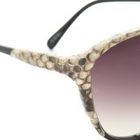 Linda Farrow Luxe Python Oversized Sunglasses | SHOPBOP