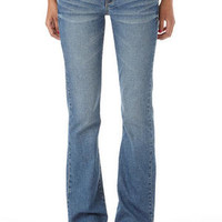 Reese Blue Lagoon Low-Rise Boot-Cut Jean