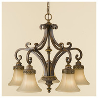Drawing Room Traditional 5-light Chandelier by Murray Feiss MF-F23975WAL F23975WAL