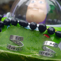 To Infinity and Beyond Best friend TWIST rings