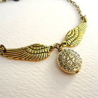 Ornate Golden Snitch Bracelet, Harry Potter Steampunk Keepsake
