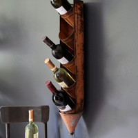 Antique Oil Can Rack, Repurposed Wine/Alcohol Holder