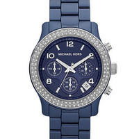 Michael Kors Glitz Ceramic Chronograph, Navy