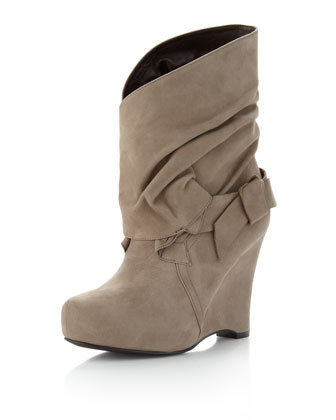Vera Wang Lavender Fletch Wraparound Ankle Boot, Taupe