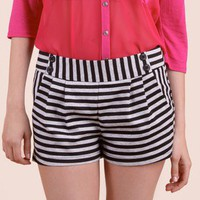 Game Night Striped Shorts @ FrockCandy.com