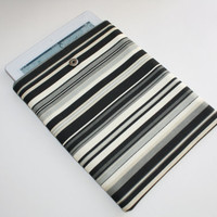 iPad Sleeve / Case - Men&#x27;s Multi Gray Stripe - Padded