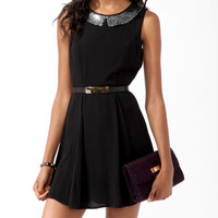 Sequined Collar Dress